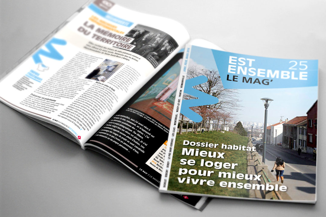 magazine montage graphiste freelance Est Ensemble publication mise en page maquettiste