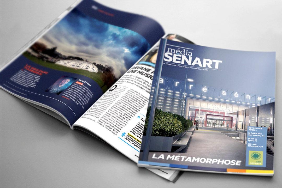 magazine montage graphiste freelance Senart publication mise en page maquettiste