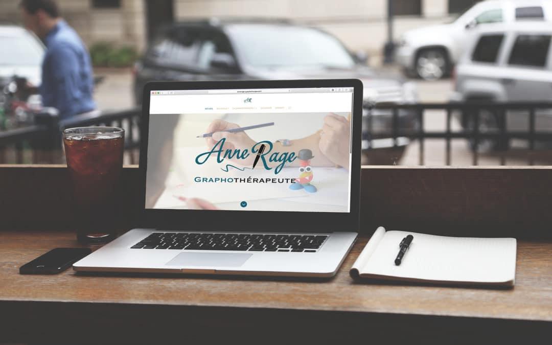 Site Internet d'Anne Rage, graphothérapeute
