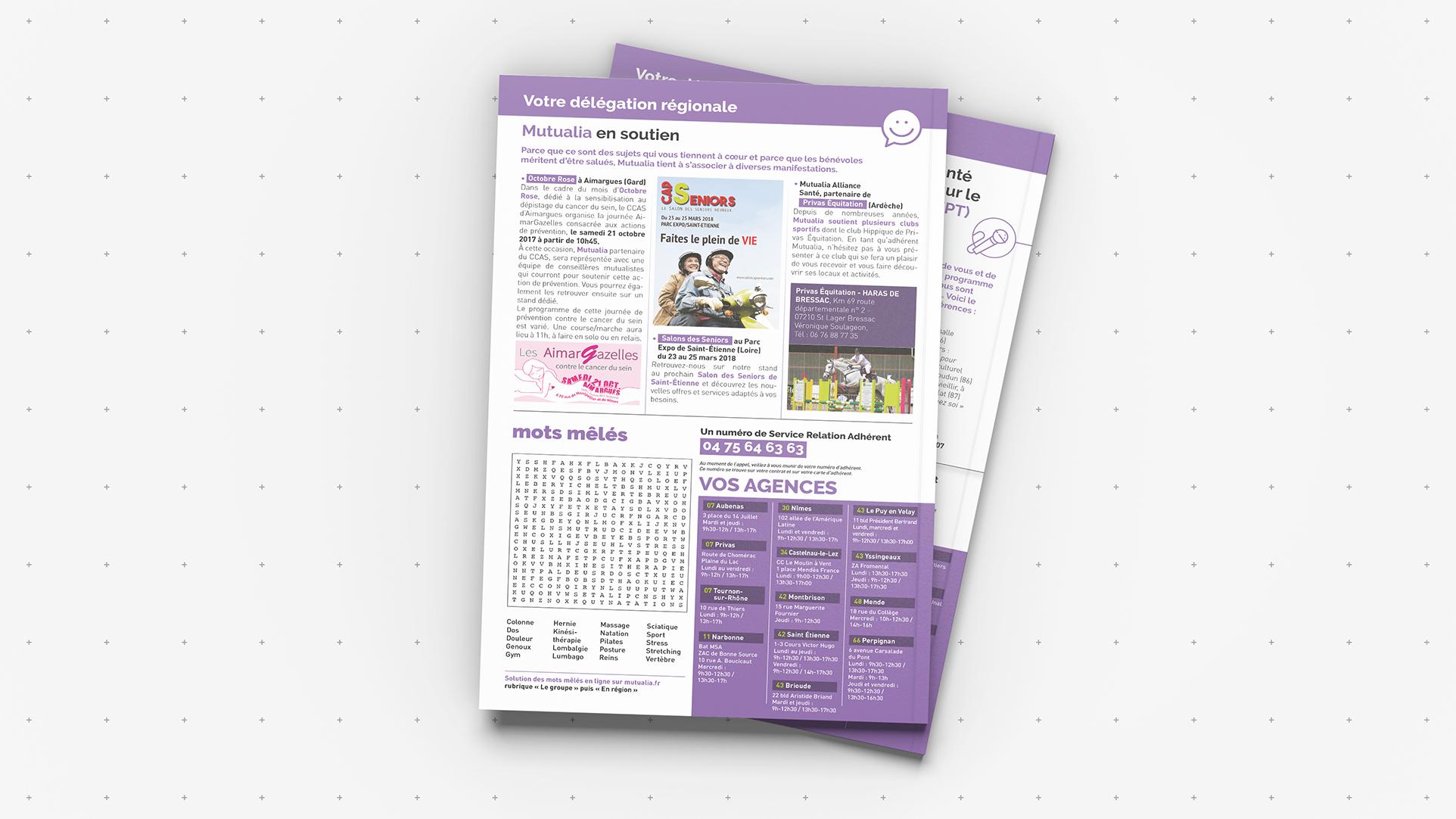 Montage magazine, mise en page plaquette, flyer