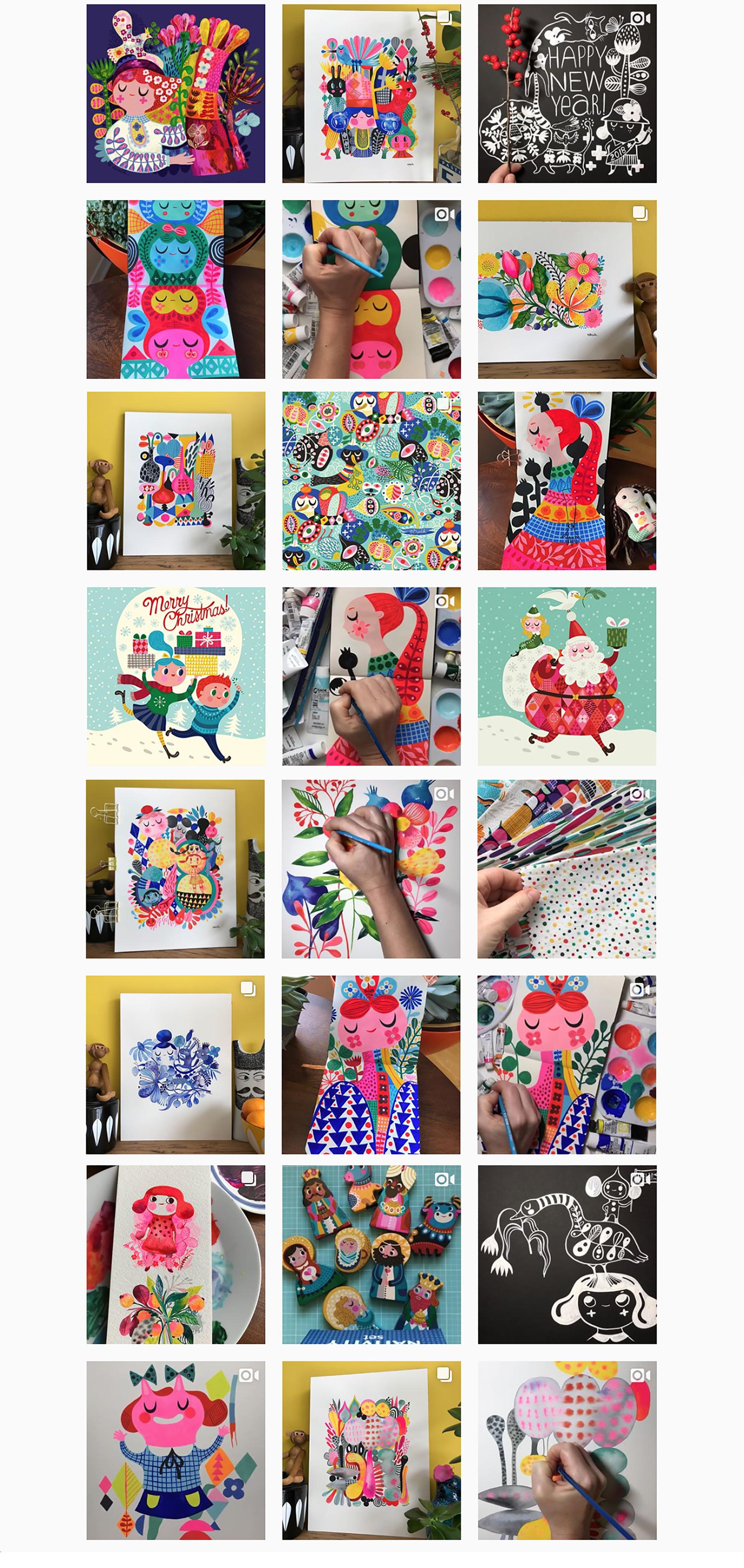 Illustrateur instagram