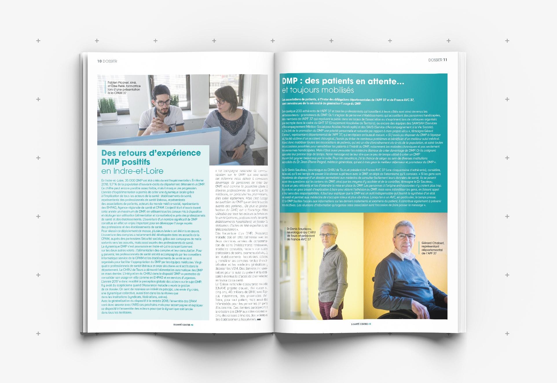 mise en page magazine Santé